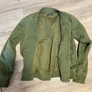 Brandy Melville Olive Bomber Jacket